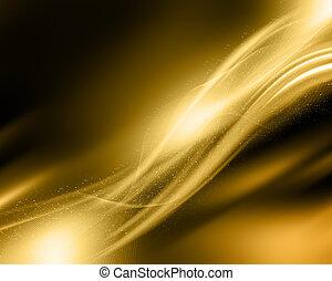 gnistra, guld, bakgrund