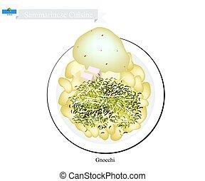 Gnocchi in Tomato Sauce, Famous Dish in San Marino