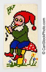 gnom, w, knitting-work