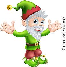 gnome, elfe, ou, jardin