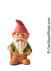 Gnome - Garden gnome isolated on a white background