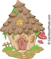 Gnome House - Illustration Featuring a Cute Gnome House