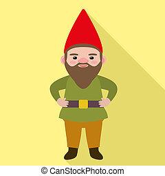 Gnome icon, flat style