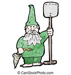 gnome, jardin, dessin animé