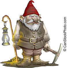 Gnome miner - Grumpy gnome miner