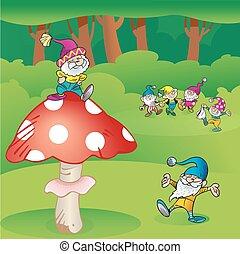 Gnomes and mushroom