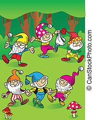gnomes, dancing