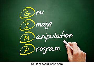 gnou, acronyme, image, -, programme, manipulation, gimp