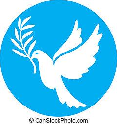 gołębica pokoju, (peace, dove)