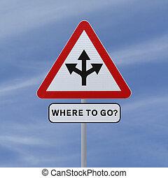 go?, どこ(で・に)か