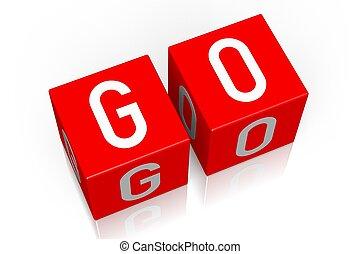 Go - 3D cube word