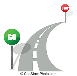 go and stop road