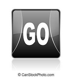 go black square web glossy icon
