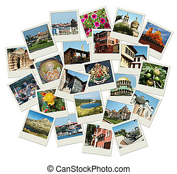 Go Bulgaria - background with travel photos of famous landmarks
