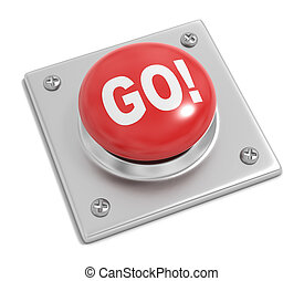 Go Button on White