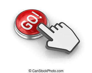 Go button with hand cursor