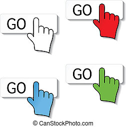 go buttons with pointer of hand