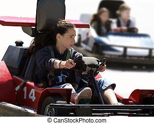 GO CART - Girl on go cart