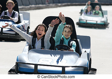 GO CART - Girls on go cart