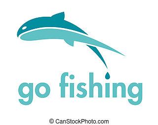 Go Fishing Icon Design Element