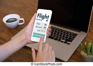 GO Flight Booking Air Online Ticket Book Concept