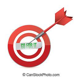 go for it target and dart illustration design