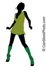 Go Go Dancer Illustration Silhouette - Go go dancer...