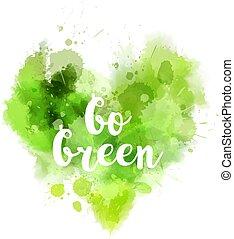 Go green abstract heart