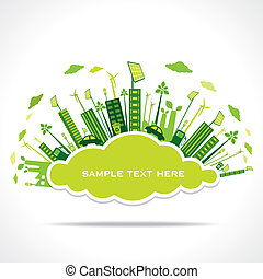 go green city or save earth concept