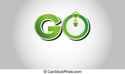 Go green design, Video Animation
