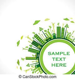 go green earth ,green city concept