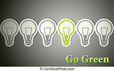 go green. eco concept