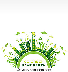 go green or save earth background