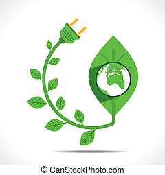go green or save earth concept
