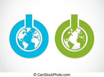 go green power button