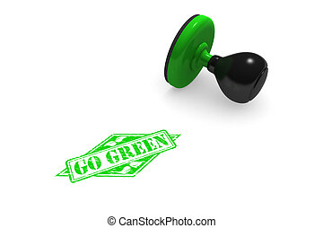 Go Green Rubber Stamp