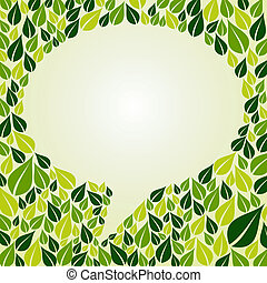 Go Green social marketing campaign - Green leaf composition...