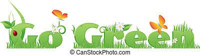 Go Green text
