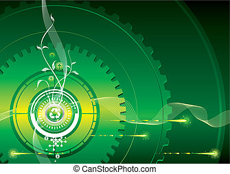 Go-Green - Green industrial concept of vector illustration...