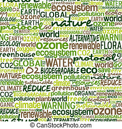 Go Green words seamless pattern - Go green text cloud about...