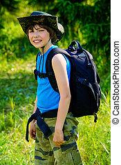 go hiking boy