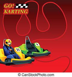Go! Karting poster - Go! Karting race ad poster or leaflet...