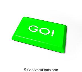Go Key - Isolated on White