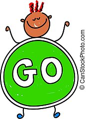 go kid - happy little asian boy dressed up as a go sign - ...