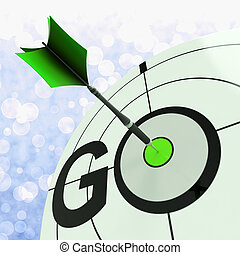 Go Means To Start Action To Proceed - Go Meaning To Start ...