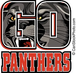 go panthers team design with mascot head