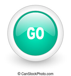 go round glossy web icon on white background