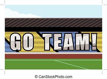 go team illustrations and clipart 1 540 go team royalty free rh canstockphoto com go team cheerleader clipart go team banner clipart