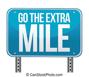 go the extra mile illustration