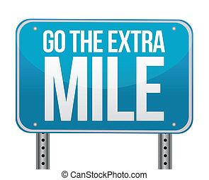 go the extra mile illustration design over white